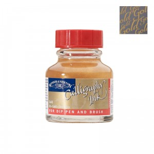 Atrament / Tusz do kaligrafii Winsor&Newton 30ml - GOLD