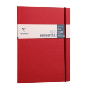 Notatnik Clairefontaine AGE BAG My.Essential A4 bordowy - kratka