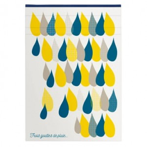 "Notes Clairefontaine ""Three Raindrops""  14,8 x 21cm linia"