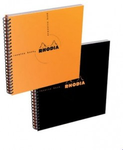 Notes Rhodia Classic Reverse Book Black - na spirali w kropki